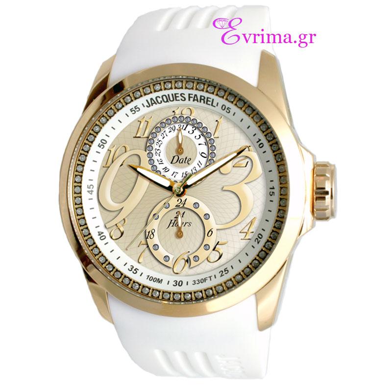 Γυναικείο ρολόι Jacques Farel από ανοξείδωτο ατσάλι ...