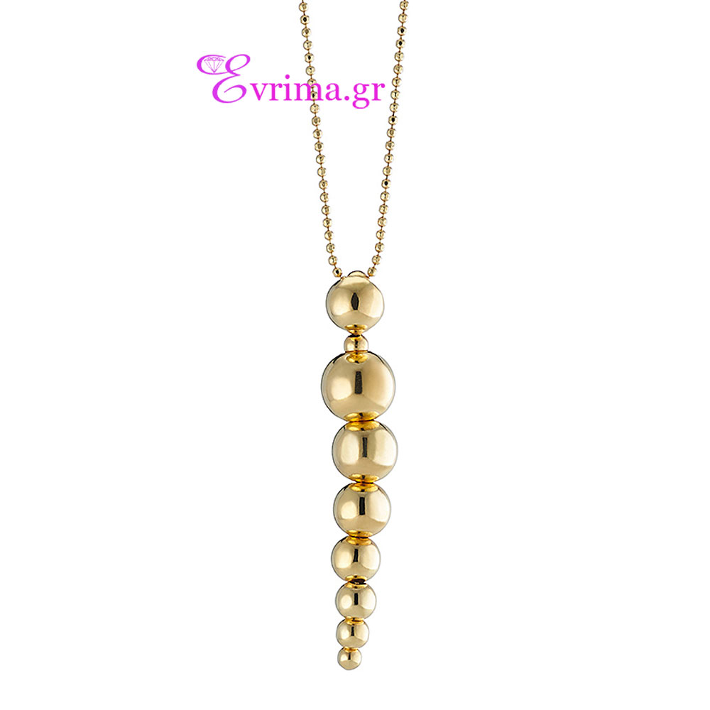 Oxette Sterling Silver Necklace with Gold Plating. [01X05 ...
