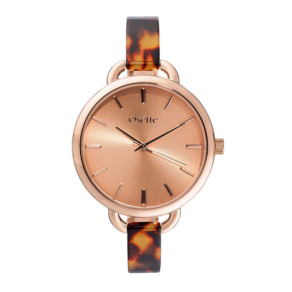 Oxette watch (11X05-00466) with Rose Gold stainless steel ...