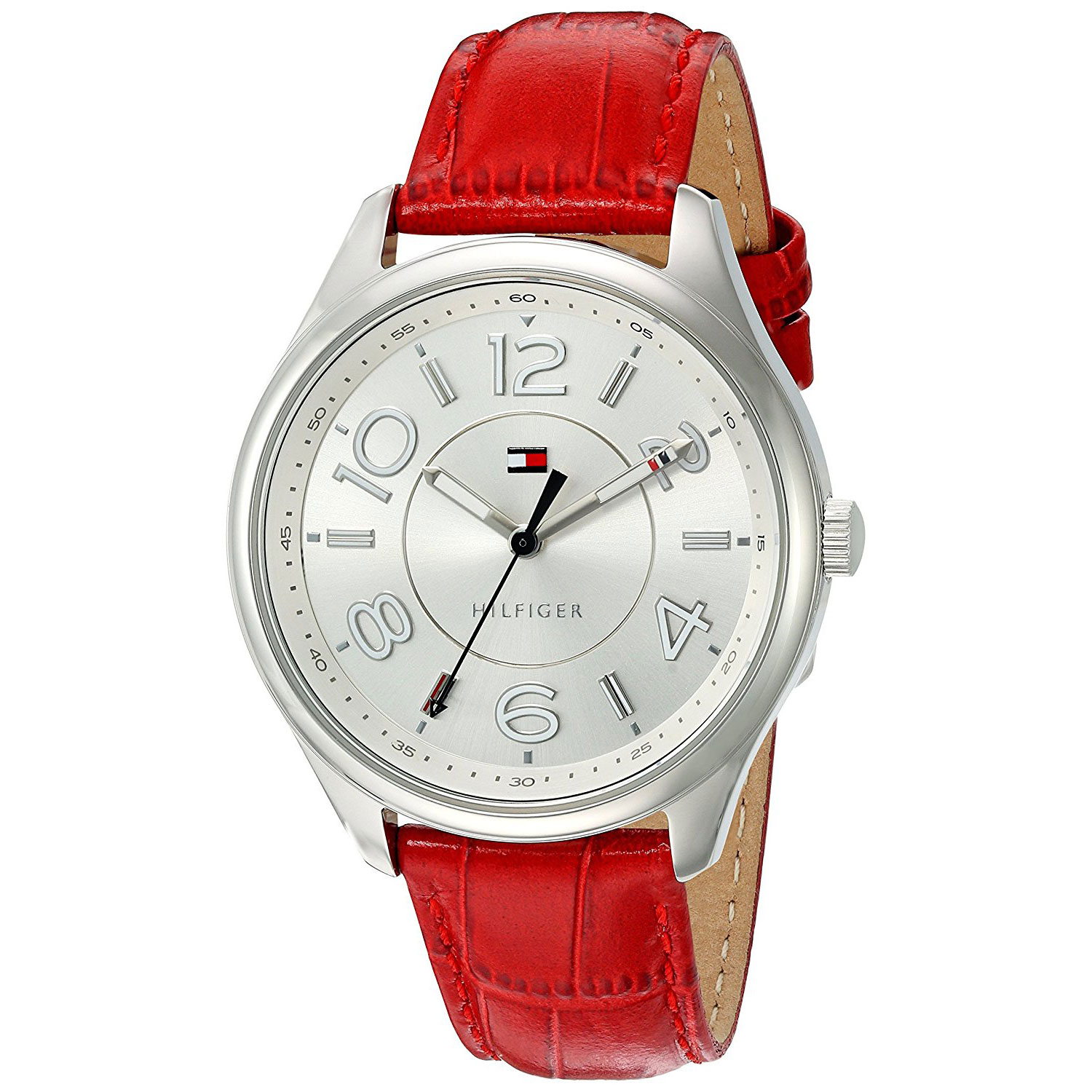 Tommy Hilfiger Watch with stainless steel and red leather ...