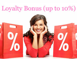 Loyalty Bonus (up to 10%)