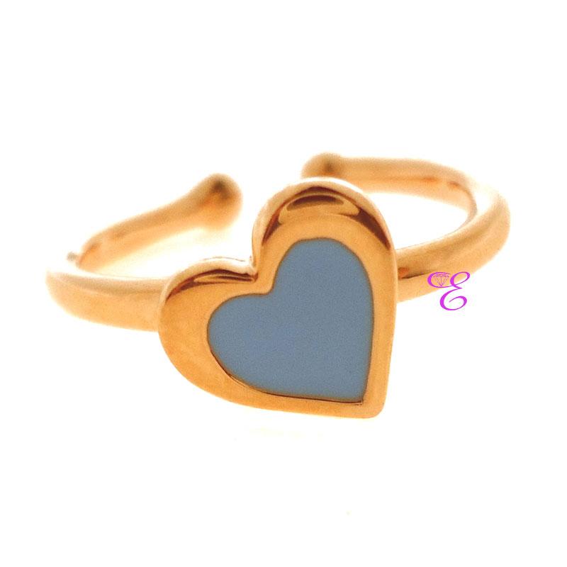 Ασημένιο παιδικό δαχτυλίδι Loisir από ροζ επιχρυσωμένο ασήμι 925ο με ... b649a600631