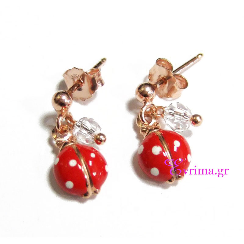Ασημένια παιδικά σκουλαρίκια Loisir από ροζ επιχρυσωμένο ασήμι 925ο ... 45acdae83dc