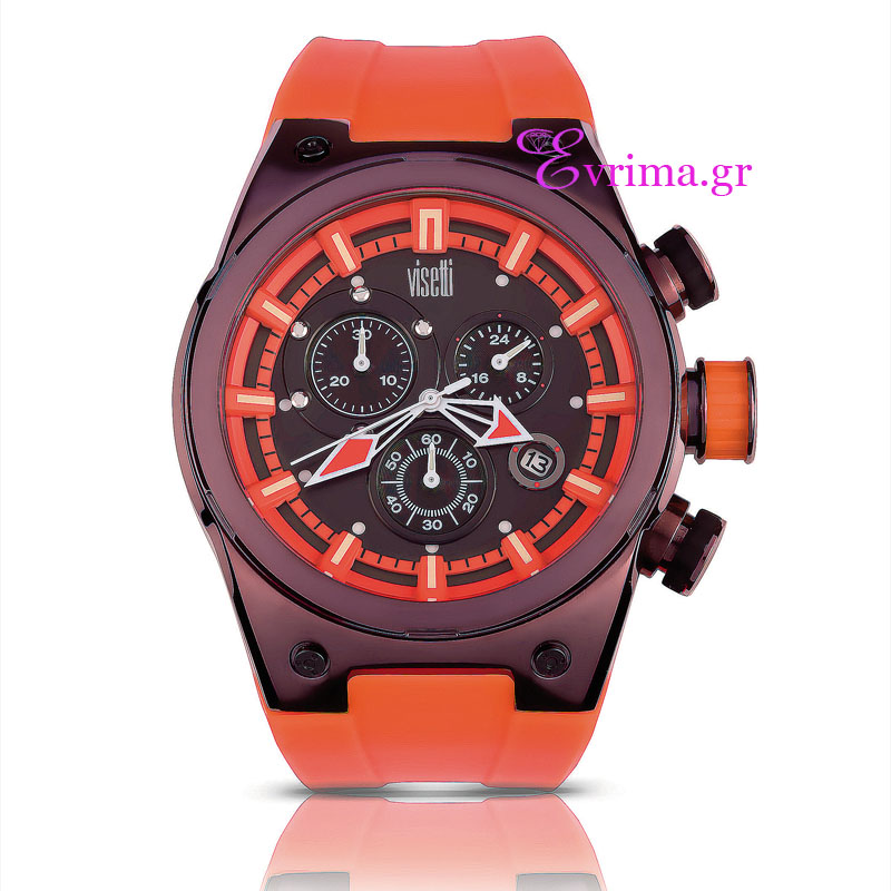 Ανδρικό ρολόι Visetti από ανοξείδωτο ατσάλι (Stainless Steel).  TB ... 43a54b1ca46
