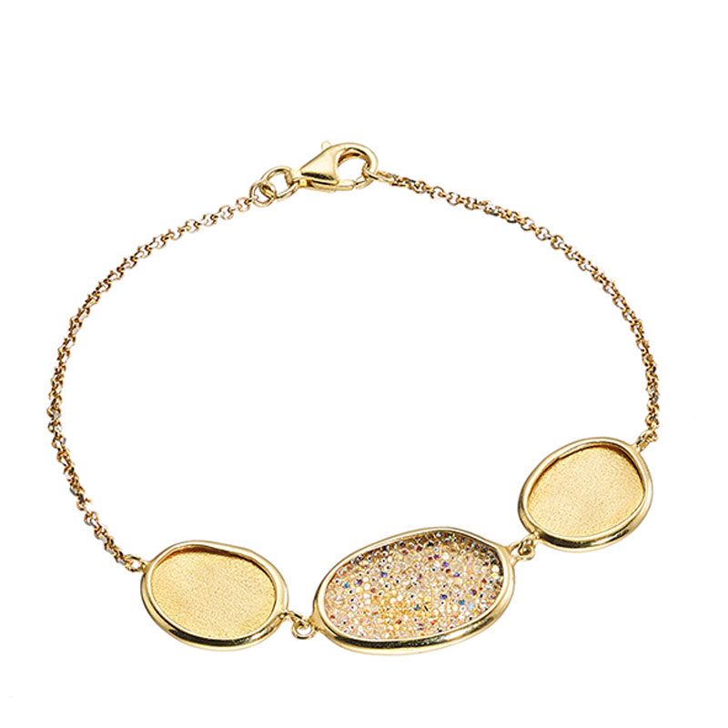 Oxette βραχιόλι από επιχρυσωμένο ασήμι 925ο με ημιπολύτιμες πέτρες (Κρύσταλλοι  Quartz).  02X05-01494  aa0116c7410