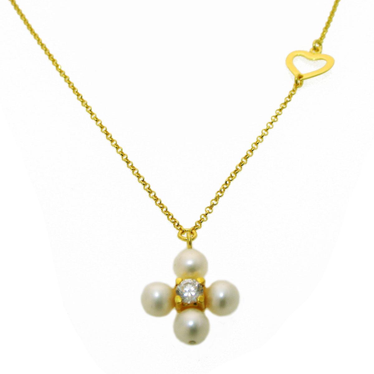 Χειροποίητο κολιέ (Σταυρός) από επιχρυσωμένο ασήμι 925ο με ημιπολύτιμες  πέτρες (Πέρλες και Ζιργκόν).  IJ-040015  3baad8ce4ba