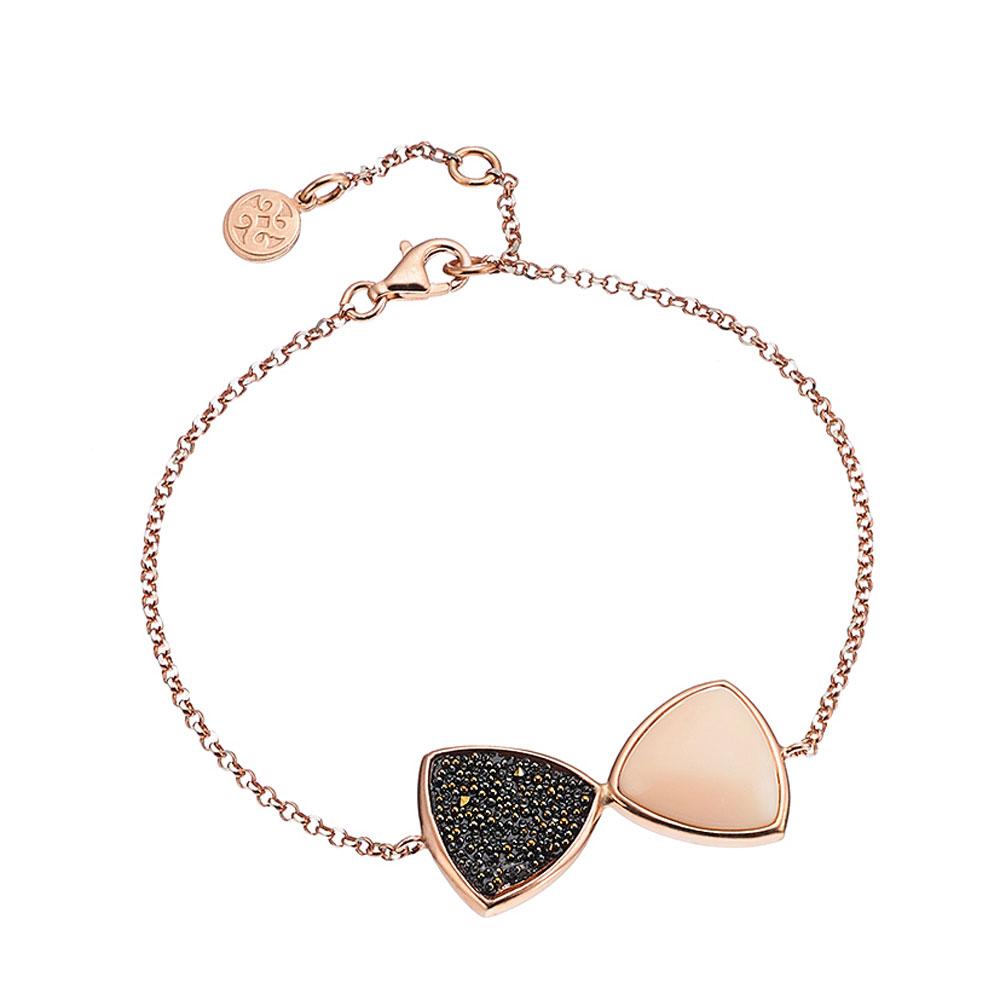 Oxette βραχιόλι από ροζ επιχρυσωμένο ασήμι 925ο με ημιπολύτιμες πέτρες (Κρύσταλλοι  Quartz).  02X05-01525  67789e1f231