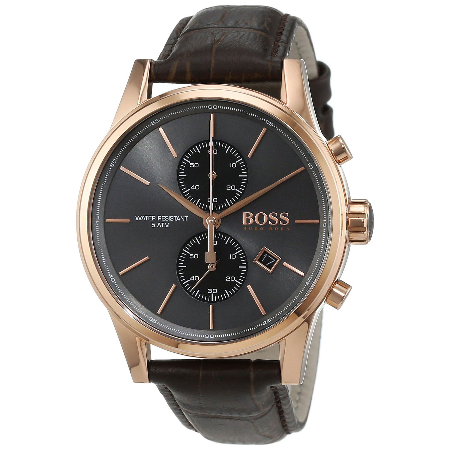 Hugo Boss Watch with rose gold stainless steel and black