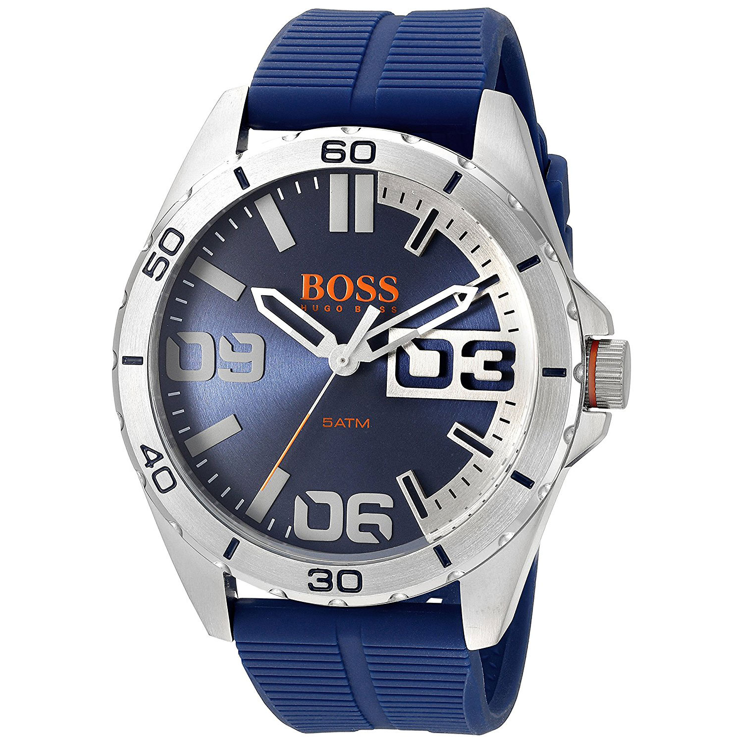 Hugo Boss Orange Watch With Stainless Steel And Blue
