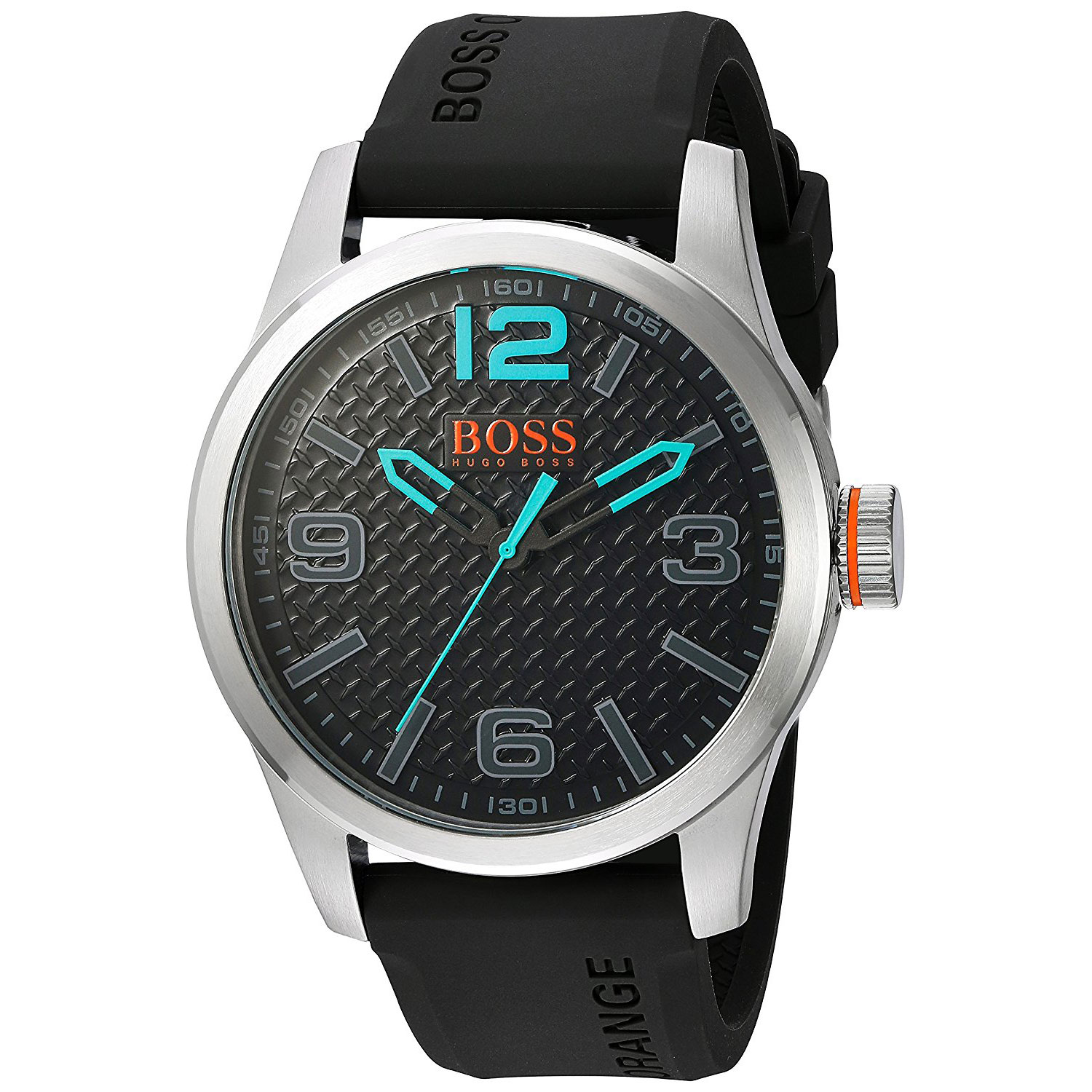 Hugo Boss Orange Watch With Stainless Steel And Black