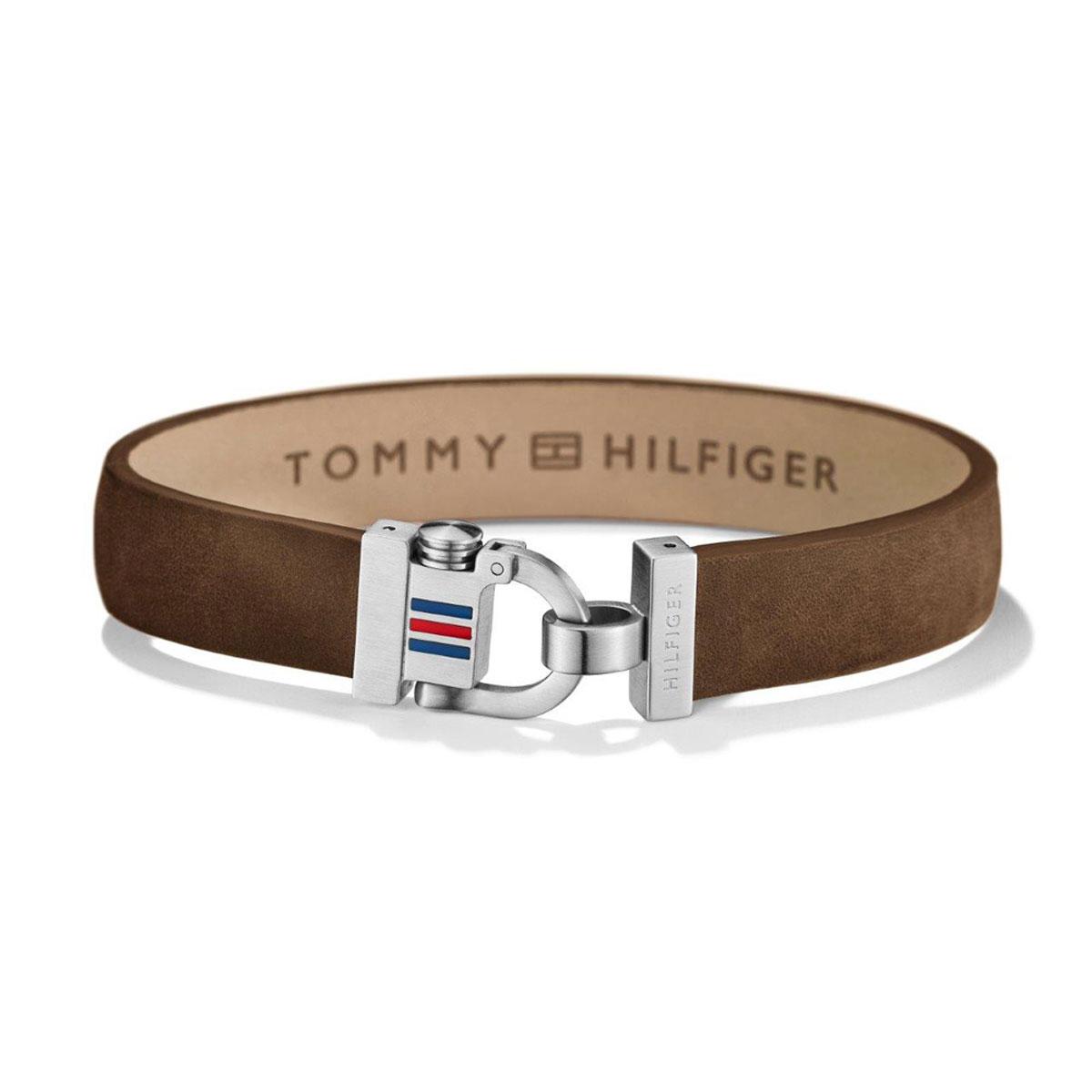 Tommy Hilfiger ανδρικό καφέ δερμάτινο βραχιόλι με ανοξείδωτο ατσάλι 2700768 3ff1282625f