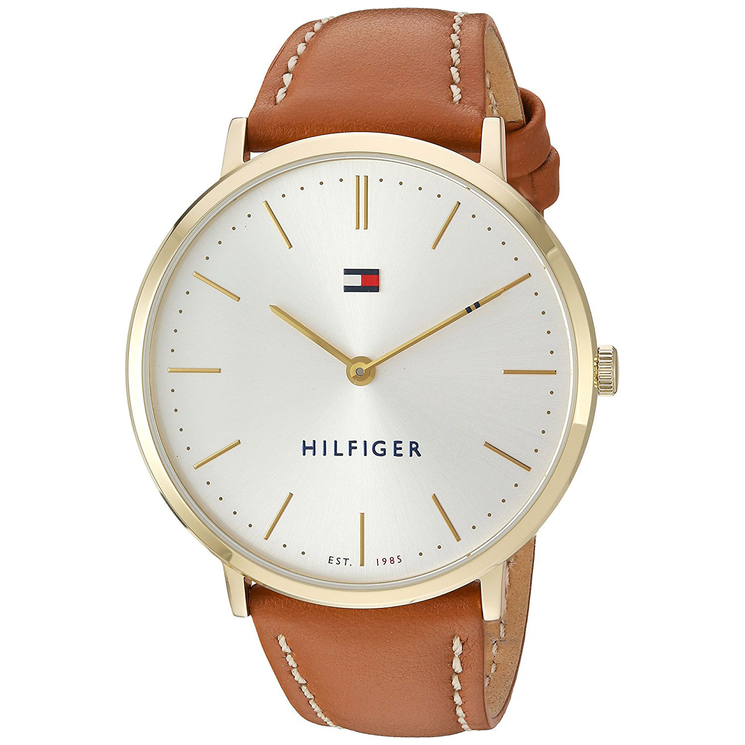 18783cbe Tap to expand · Tommy Hilfiger watch with gold stainless steel and brown  leather strap 1781688