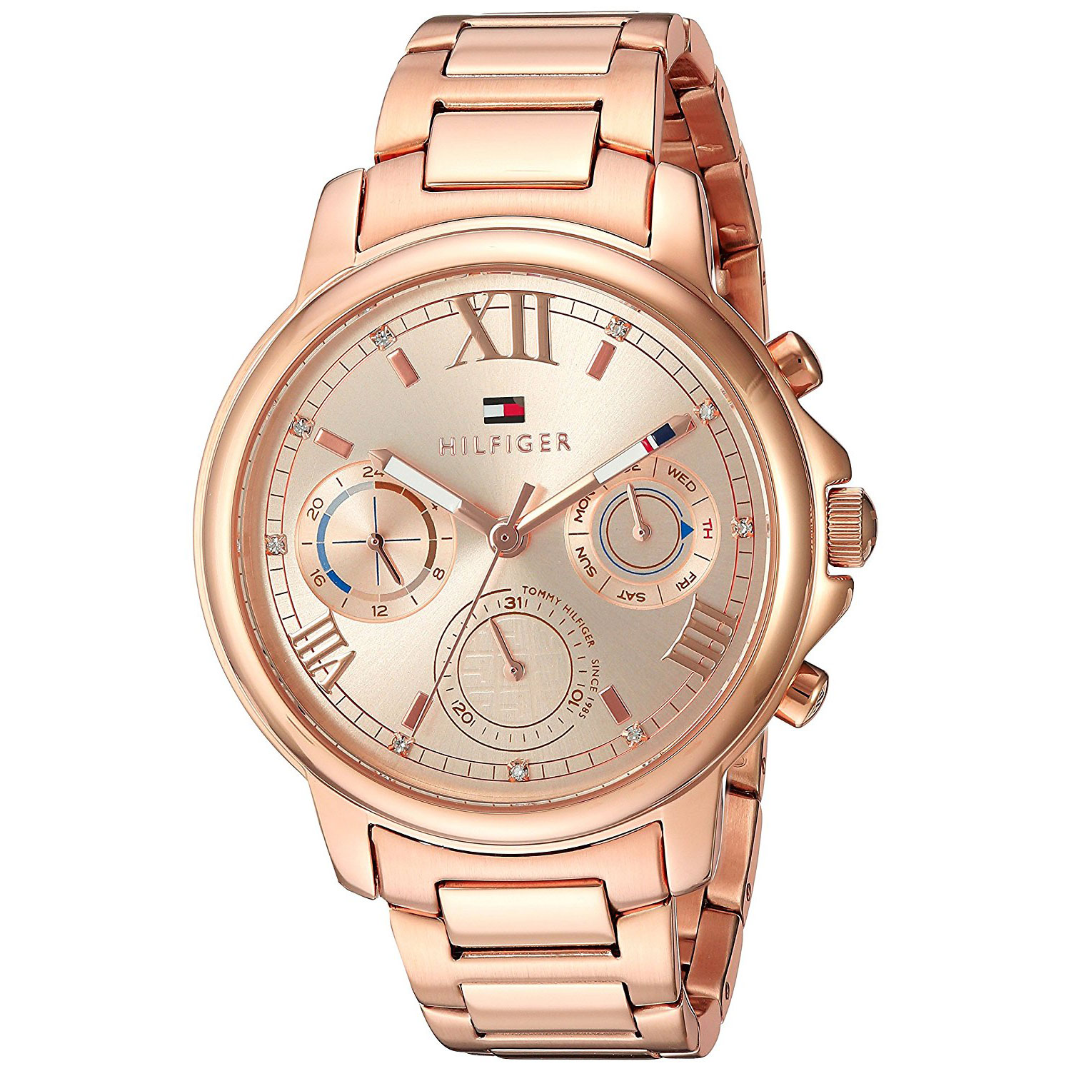 8916d0b20 Tommy Hilfiger watch with rose gold stainless steel 1781743. Tap to expand