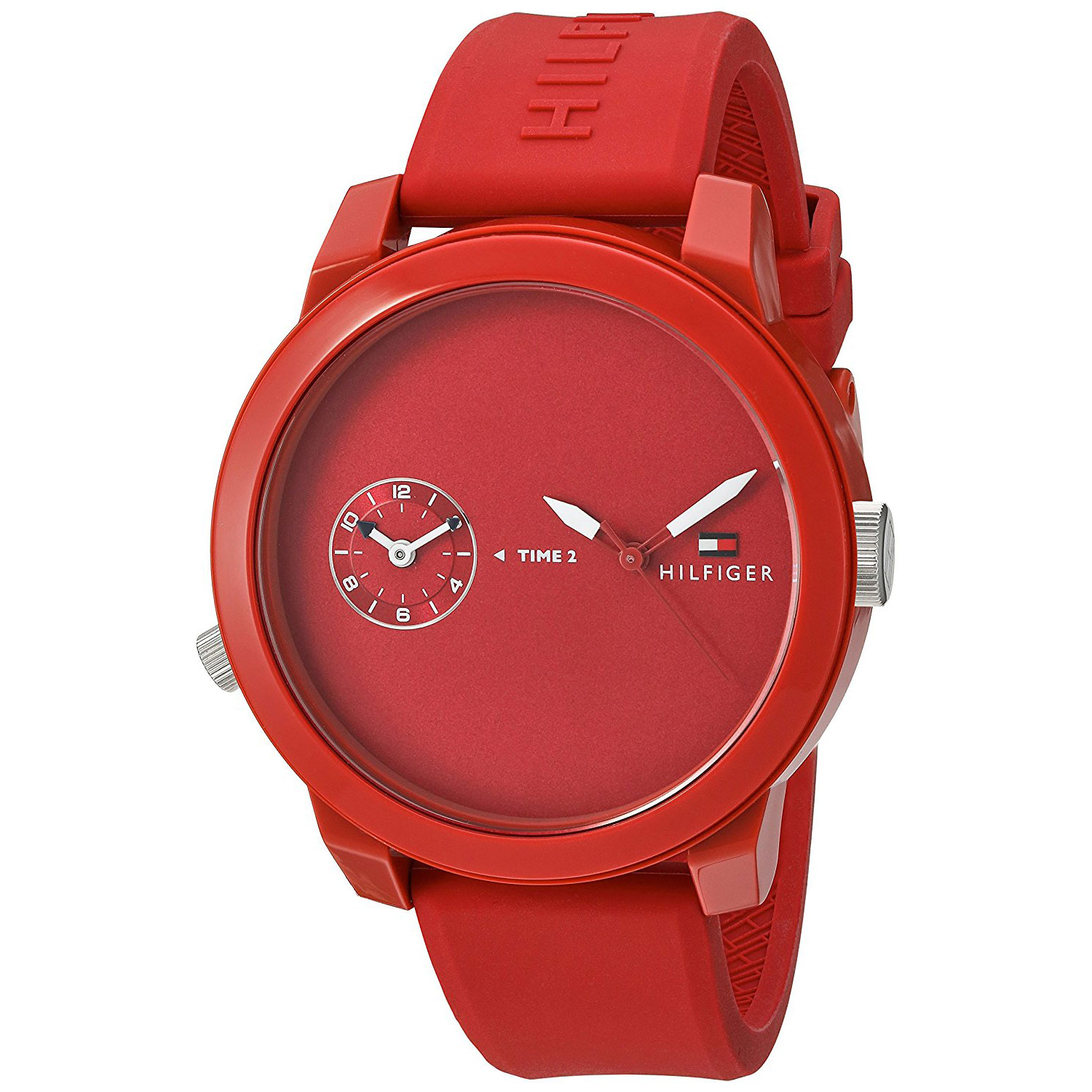 Tommy Hilfiger watch with red stainless steel and red ...