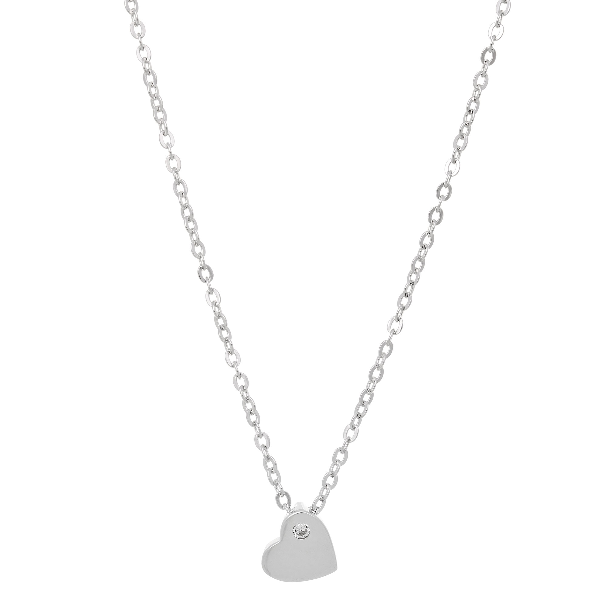 Prince silvero sterling silver necklace heart with platinum prince silvero sterling silver necklace heart with platinum plating and precious stones zirconia aloadofball Image collections