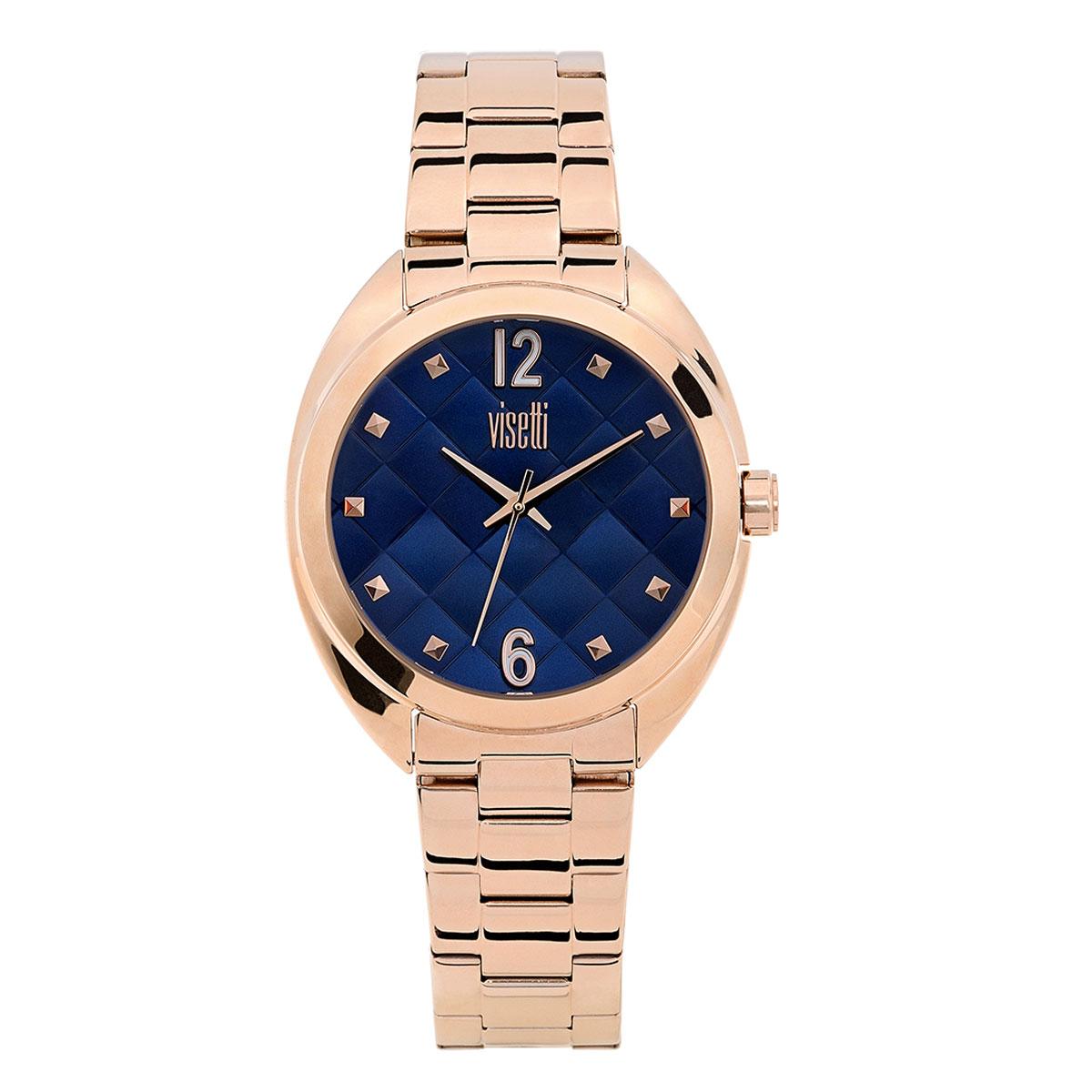 Visetti γυναικείο ρολόι με ροζ χρυσή ατσάλινη κάσα και μπρασελέ. ZE-992-RC 0d3db860a7d