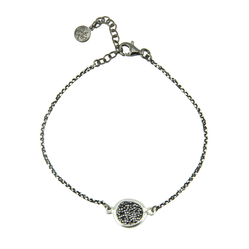 Oxette βραχιόλι 02X01-02884 από επιπλατινωμένο ασήμι 925ο με ημιπολύτιμες  πέτρες (Κρύσταλλοι Quartz). 0602f4f1ea7