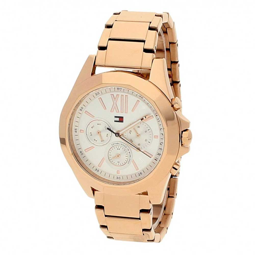 tommy hilfiger watch with rose gold stainless steel 1781847. Black Bedroom Furniture Sets. Home Design Ideas