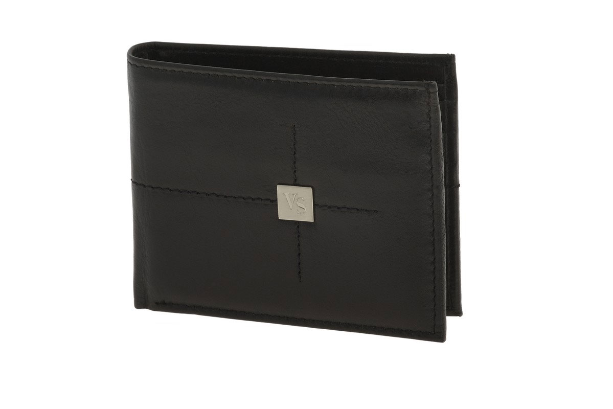0e56edde51 Visetti ανδρικό μαύρο δερμάτινο πορτοφόλι LO-WA013B