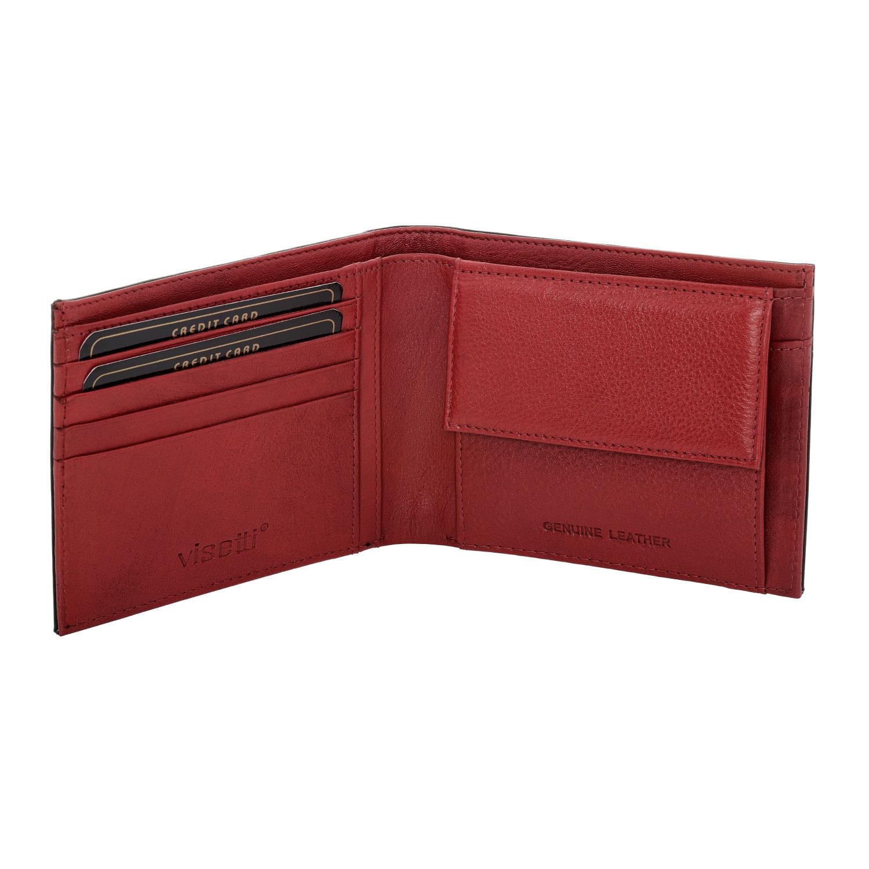 cc899e8091 Visetti ανδρικό μαύρο κόκκινο δερμάτινο πορτοφόλι LO-WA019B εικόνα 2