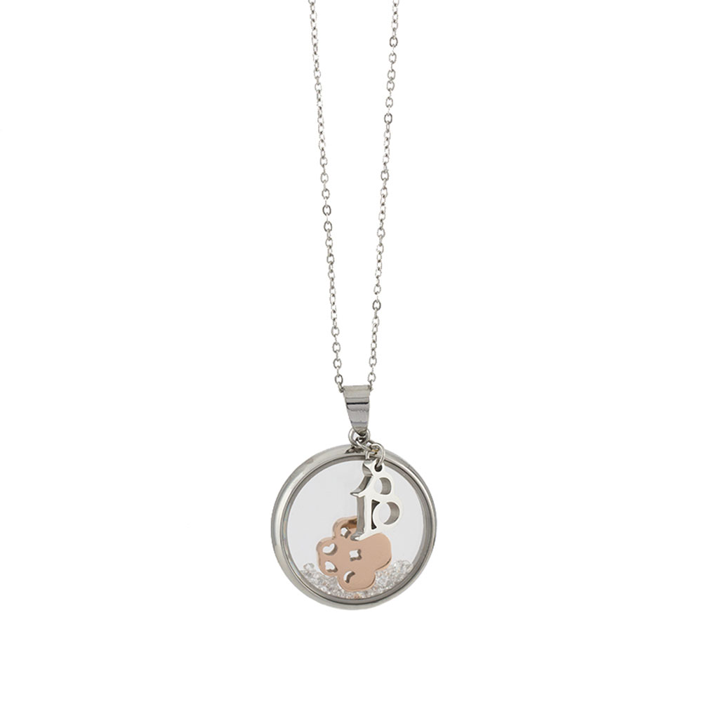 Loisir Stainless Steel Necklace Lucky Charm 01l03 00445 Symbols With