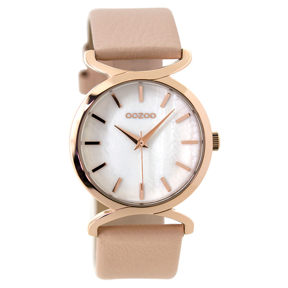 OOZOO Timepieces C9526 ladies watch with rose gold metallic frame and pink  leather strap. Tap to expand 2608370e19a