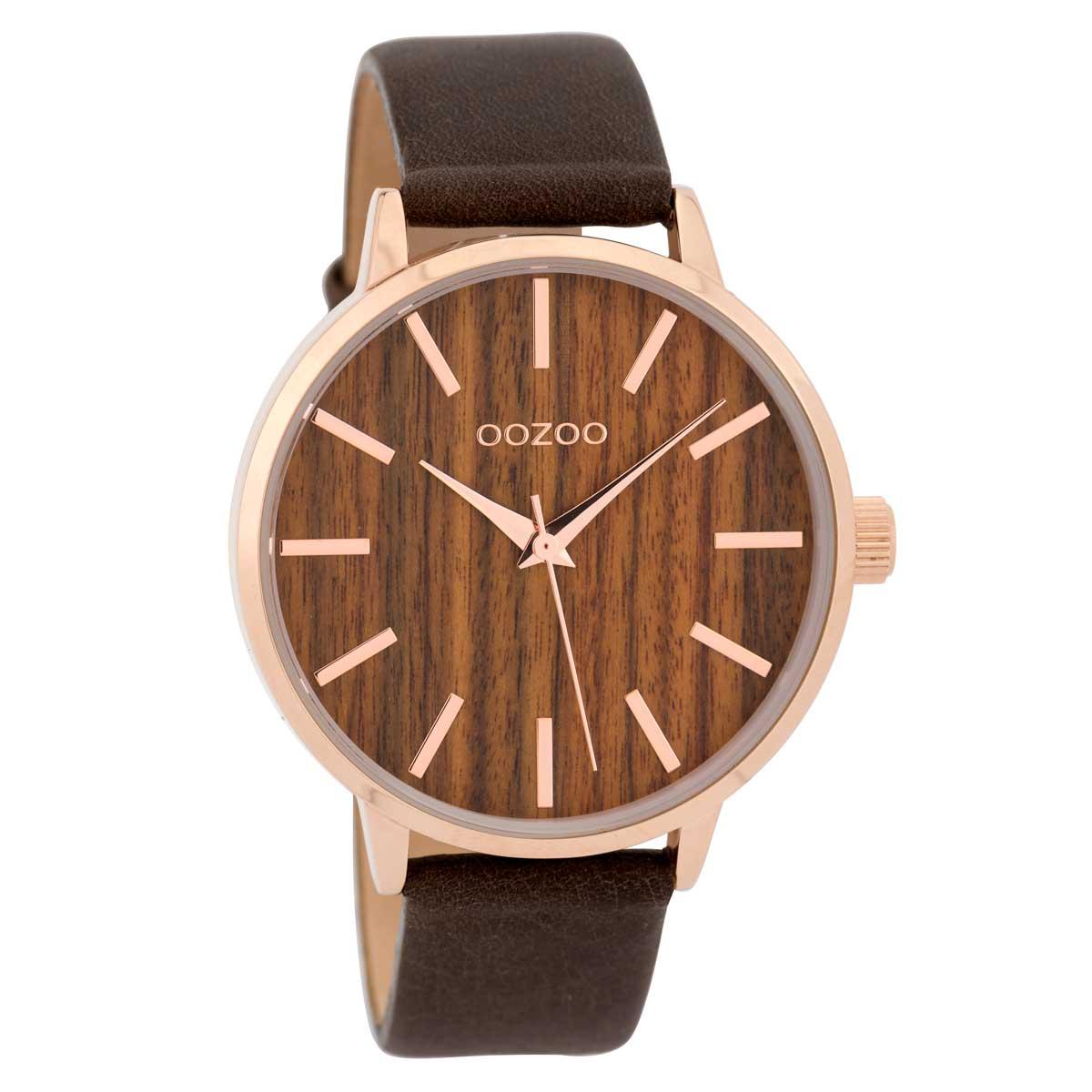 OOZOO Timepieces C9253 γυναικείο ρολόι με ροζ χρυσή μεταλλική κάσα ... e969e7e3652