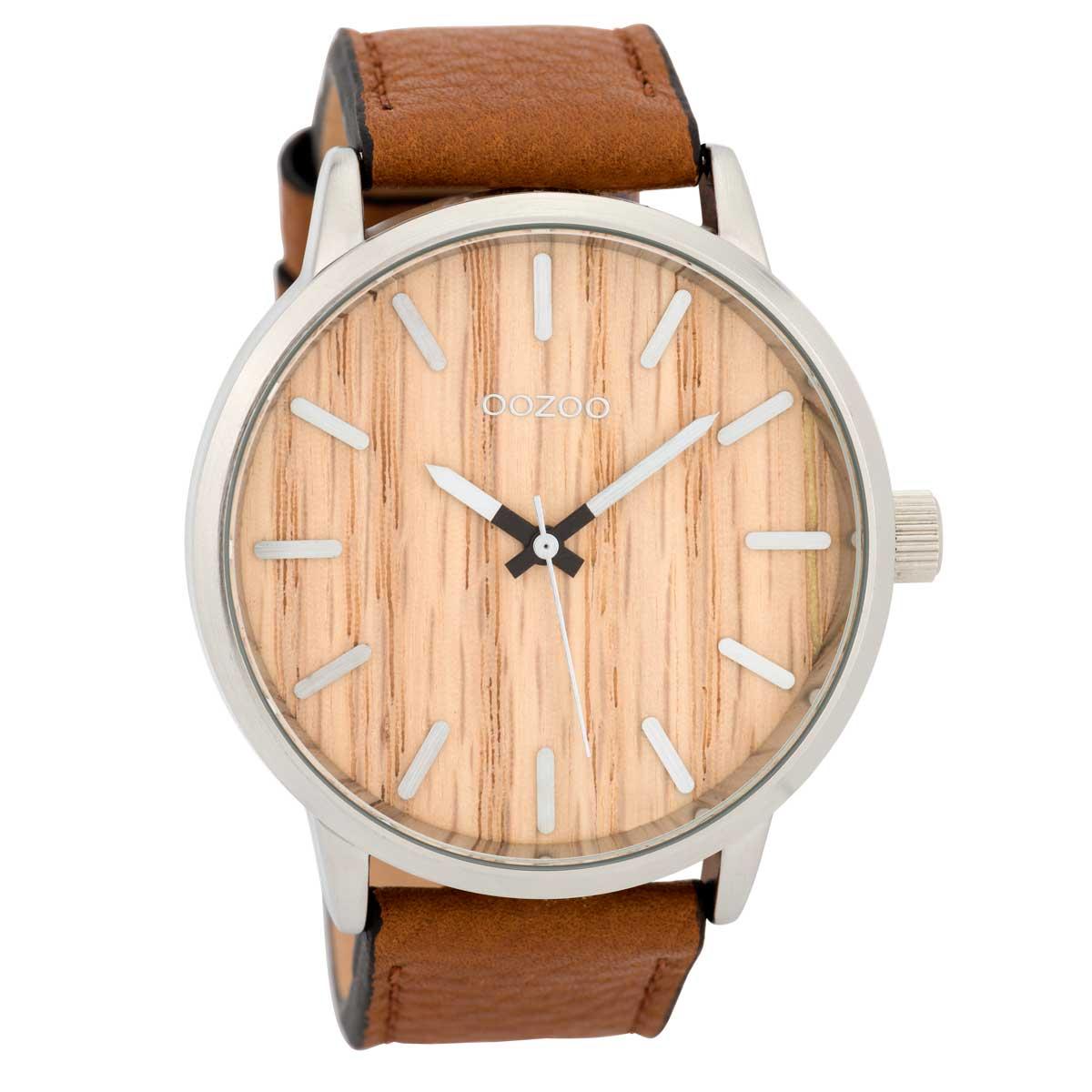 OOZOO Timepieces C9256 ανδρικό ρολόι XL με ασημί μεταλλική κάσα ... bc6bd2b6e17