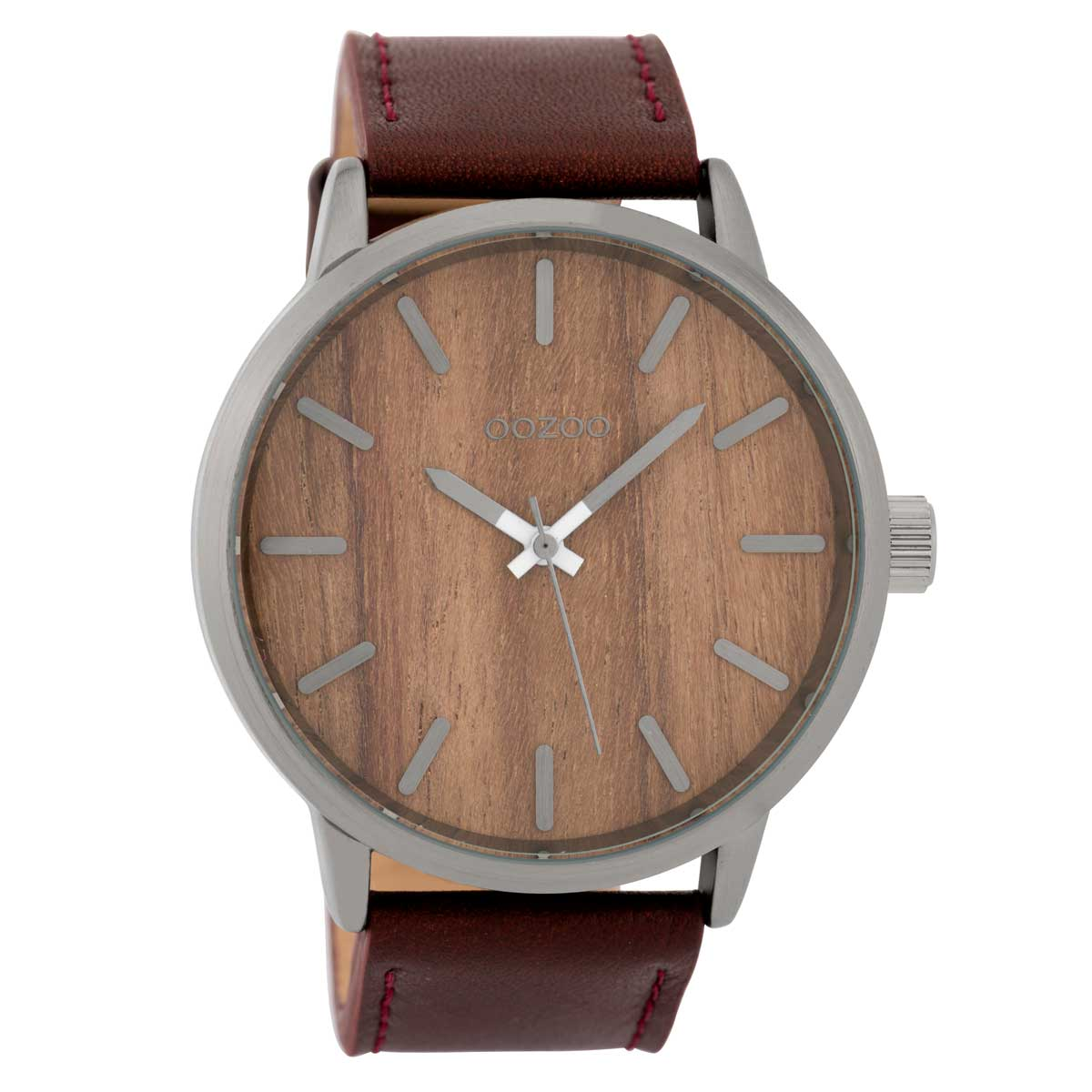 OOZOO Timepieces C9258 gents watch XL with grey metallic frame ... 4932c78ce24