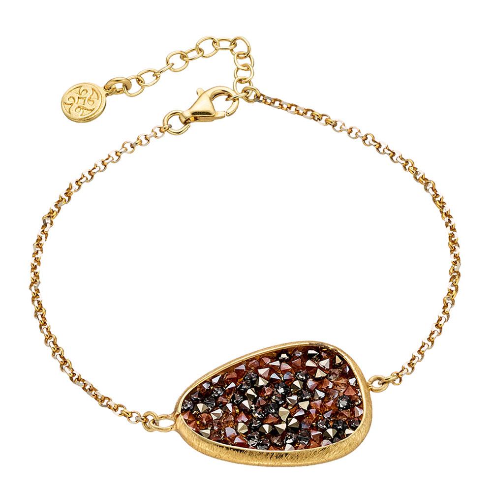 Oxette βραχιόλι 02X05-01699 από επιχρυσωμένο ασήμι 925ο με ημιπολύτιμες  πέτρες (Κρύσταλλοι Quartz) 77c489141d4