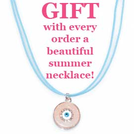 GIFT with every order a beautiful summer necklace!