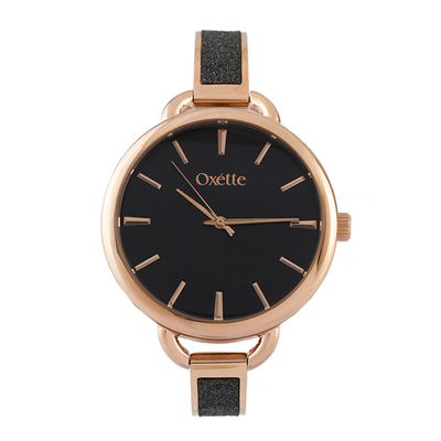 Oxette Stainless Steel Watch 11X05-00485 with rose gold case and bracelet