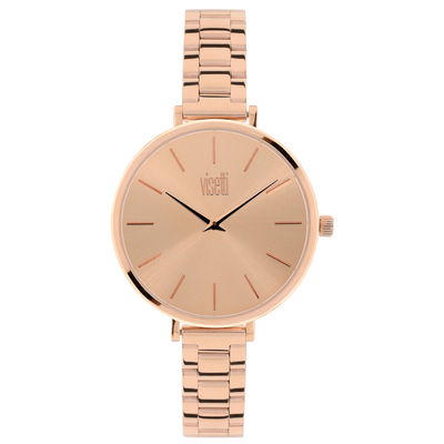 Visetti ladies watch PE-353RR with rose gold stainless steel frame and band
