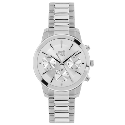 Visetti ladies watch PE-498SI with silver stainless steel frame and band