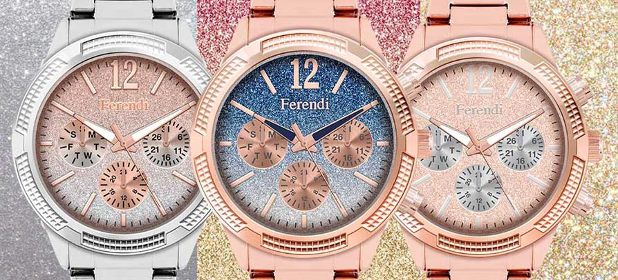 Ferendi Watches - New Collections 2017 -  2018 , Divine , Glare , Storm , Sparkle and Legend