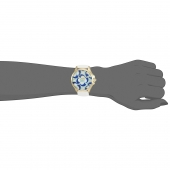 Juicy Couture ρολόι από χρυσό ανοξείδωτο ατσάλι με λευκό λουράκι σιλικόνης 1901427 εικόνα 2