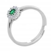 Σετ κοσμημάτων Prince Silvero (κολιέ, σκουλαρίκια και δαχτυλίδι) από επιπλατινωμένο ασήμι 925ο με ημιπολύτιμες πέτρες (ζιργκόν). JD-SE170G-SET δαχτυλίδι μέρος του σετ