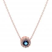 Σετ κοσμημάτων Prince Silvero (κολιέ, σκουλαρίκια και δαχτυλίδι) από ροζ επιχρυσωμένο ασήμι 925ο με ημιπολύτιμες πέτρες (ζιργκόν). JD-SE170M-R-SET κολιέ μέρος του σετ