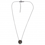 Χειροποίητο κολιέ Eight-Necklace-NK-00388 από ροδιωμένο και επιχρυσωμένο ασήμι 925ο με ημιπολύτιμες πέτρες (ζιργκόν) Full