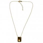Χειροποίητο κολιέ Eight-Necklace-NK-00391 λουλούδι από επιχρυσωμένο ασήμι 925ο με ημιπολύτιμες πέτρες (ζιργκόν) Full