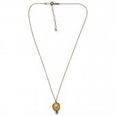 Χειροποίητο κολιέ Eight-Necklace-NK-00393 από επιχρυσωμένο ασήμι 925ο με ημιπολύτιμες πέτρες (πέρλες και ζιργκόν) Full