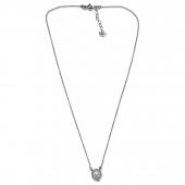 Χειροποίητο κολιέ Eight-Necklace-NK-00394 από ροδιωμένο ασήμι 925ο με ημιπολύτιμες πέτρες (πέρλες) Full
