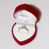 Χειροποίητο δαχτυλίδι μονόπετρο από επιπλατινωμένο ασήμι 925ο με ημιπολύτιμες πέτρες (ζιργκόν) IJ-010479-S στο κουτί συσκευασίας
