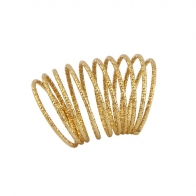 Oxette δαχτυλίδι 04X05-01295 σπιράλ από επιχρυσωμένο ασήμι 925ο