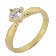 Δαχτυλίδι Prince Silvero 9A-RG069-3 (βεράκι) από επιχρυσωμένο ασήμι 925ο με ημιπολύτιμες πέτρες (ζιργκόν).