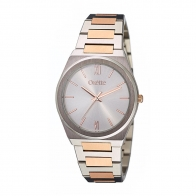 Oxette ρολόι 11X03-00641 από ανοξείδωτο ατσάλι με ασημί και ροζ χρυσή επιμετάλλωση στην κάσα και μπρασελέ