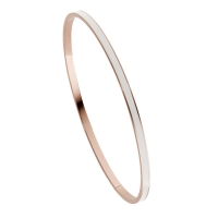Loisir | Βραχιόλι Loisir από ανοξείδωτο ατσάλι (Stainless Steel) με ημιπολύτιμες πέτρες (Σμάλτο) και Ion Plated Rose Gold. [02L27-00136]