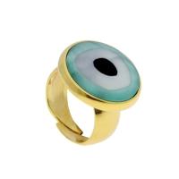 Visetti δαχτυλίδι από χρυσό ορείχαλκο με ημιπολύτιμες πέτρες (Κρύσταλλοι Quartz). TH-WRG046VG