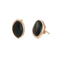 Oxette σκουλαρίκια 03X05-01742 από ροζ επιχρυσωμένο ασήμι 925ο με ημιπολύτιμες πέτρες (Κρύσταλλοι Quartz).