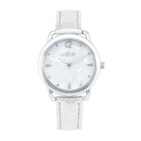 Loisir ρολόι 11L06-00381 με ασημί μεταλλική κάσα και δερμάτινο λουράκι